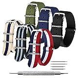 CIVO Cinturino Orologio 6 Confezioni NATO Nylon Balistico Cinturini 16mm 18mm 20mm 22mm 24mm Zulu...
