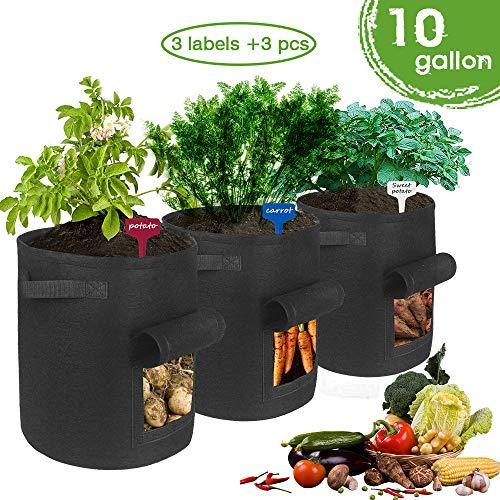 TOUCH-RICH Kartoffel-Pflanzbeutel – Gartenwanne für Gemüse mit Klappenzugang