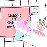 Baby-lustiges Spielzeug Mini-Eis-Form-Handspiegel-kleine Glasspiegel für das Handwerks-Dekoration-Kosmetikzubehör-Rosa und Blau