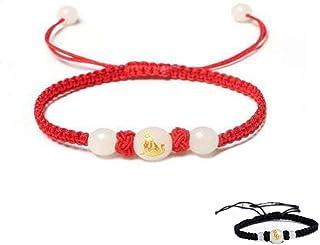 SX Commerce Lucky Dog Braided Rope Couple Bracelets Luminous Stone Unisex Adjustable Macrame Bracelets for Women Men
