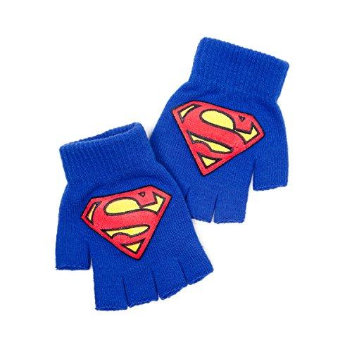 Superman DC Comics Classique Logo Mitaines, Bleu