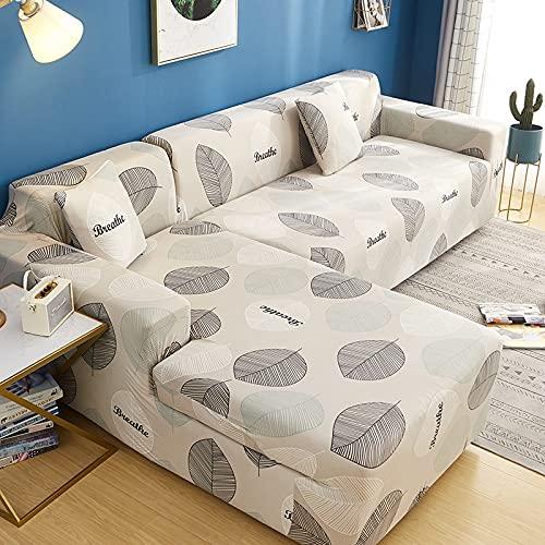 WXQY La Funda elástica del sofá es Adecuada para el sofá General Funda de sofá Modular en Forma de L Funda de sofá Antideslizante Envuelta herméticamente A21 4 plazas