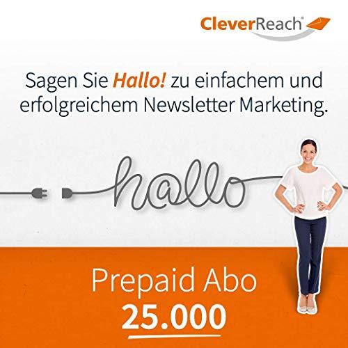 CleverReach Newsletter Software, Email Marketing Automation, Prepaid Abo 25.000,Web Browser, Kostenfreies Probeabo