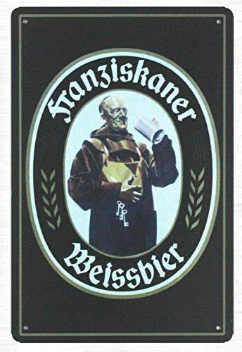Sonamdws S Franziskaner Weissbier Alemania Cerveza Monje Franciscano Chic Letrero Decoración de...