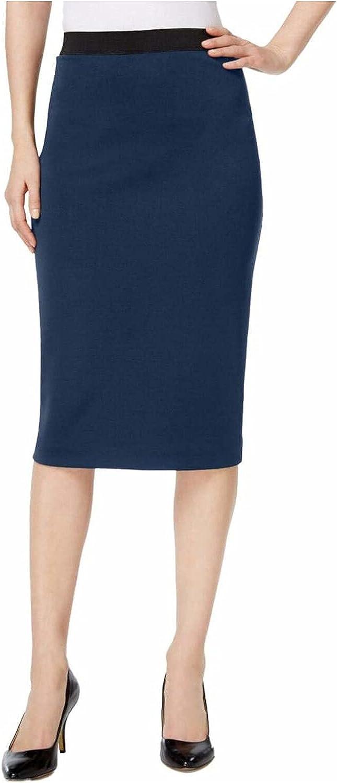 Alfani Womens Midi Scuba Pencil Skirt