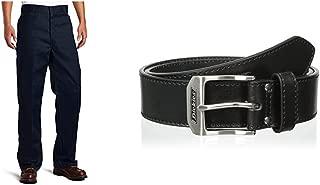 Dickies Men's Loose Fit Double-Knee Work Pant and Belt