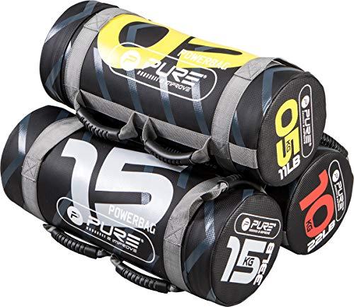 Pure2Improve - Power Bag 15kg - Sandbag Weight Lifting Training, Adjustable Fitness Power Bag with Handles