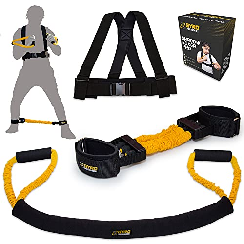 GYRO FITNESS   Shadow Boxer Pro   Boxing Resistance Bands Set for Shadow Boxing, Comes with Ankle Cuffs   Ideal Addition to Your Home Boxing Equipment