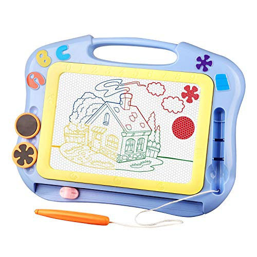 SLHFPX LOFEE Doodle Board Gift for 1-5 Year Old Boy, Sketching Pad Boys Toys Age 2-5 Birthday Present for 1-3 Year Old Girl Toy 2-5 Year Old Girl-Boy Small Travel Toys for Kids Magna Doodle