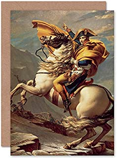 Fine Art Prints Napoleon Crossing The Alps gratulationskort med kuvert inuti premiumkvalitet