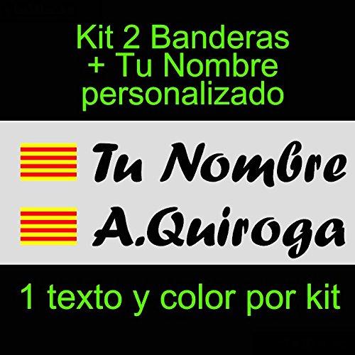Vinilin - Pegatina Vinilo Bandera Cataluña + tu Nombre -