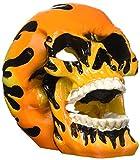 Penn-Plax Flaming Skull Ornament, Medium