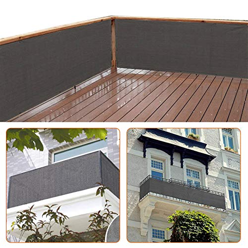zimo Balcony Privacy Shield Sun Protection Opaque Weather-Resistant Balcony Cover Fence Privacy Screen 3