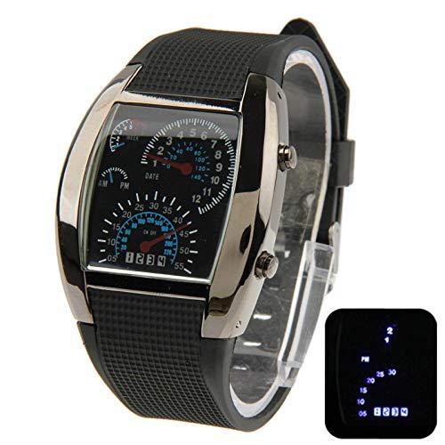 Xyamzhnn Herrenuhr, Dame Uhr, Dame Uhr, Herren-Uhr, personifizierte Uhr, Dame-Mode-Uhren, Uhr-Geschenk, blaues Licht LED-Uhr mit Silikon-Armband-Uhren for Frauen und Männer Uhrzeit und Datum-Anzeigen-