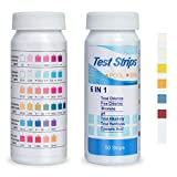 Pool Test Strips, Pool Water Test Kit 6-Ways Pool Chemicals & Water Testing Strips 100 Count Hot Tub Test Strips for Inground and Above Ground Pool Bromine, Chlorine, PH, Cyanuric Acid Testing
