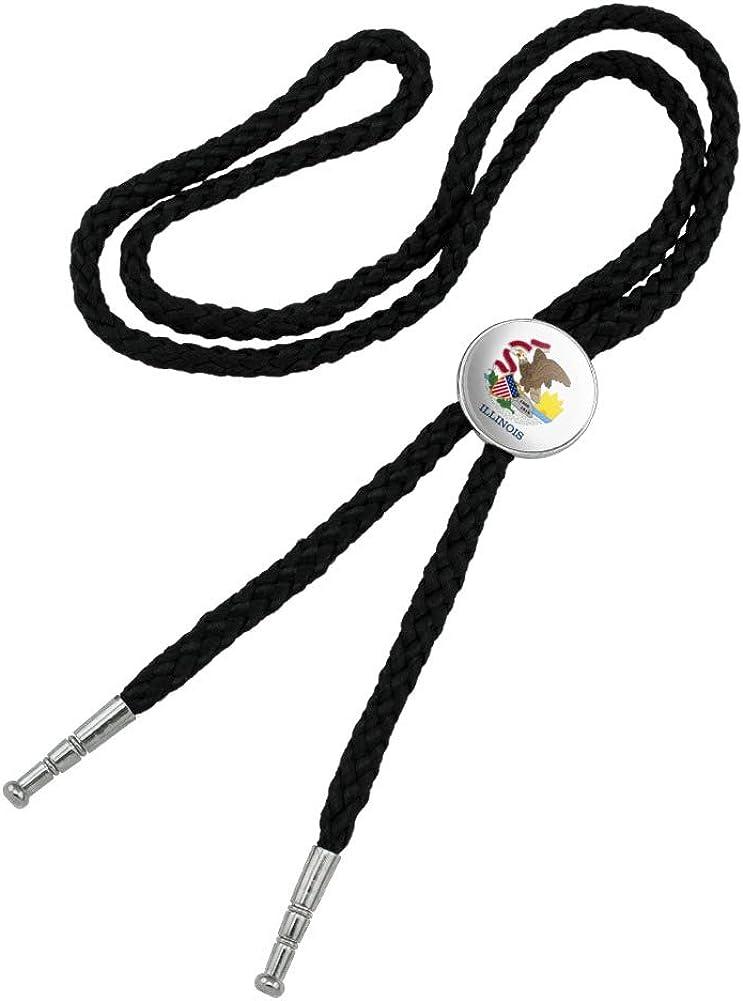 Illinois State Flag Product Western Southwest Bolo Ti Necktie Selling Bow Cowboy
