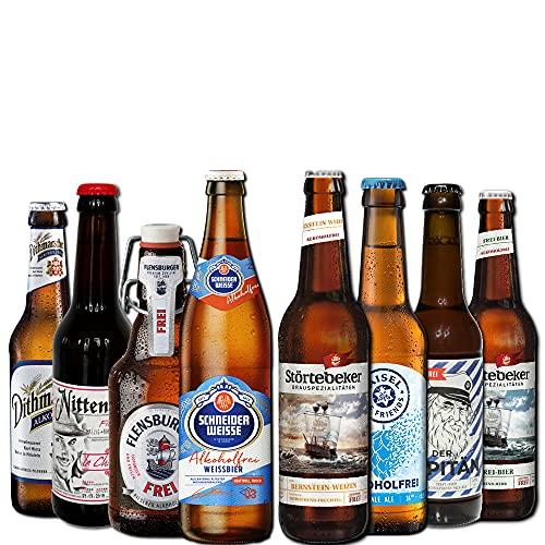 Alkoholfreies Bierpaket von BierSelect - 8 x alkoholfreies Bier (8 x 0,33l) in einem Geschenk Bier Paket - Super Geschenkidee für den Mann, Vater oder Kollegen