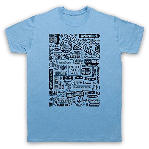 Craft Bier soorten drinken liefhebber typografie heren T-Shirt