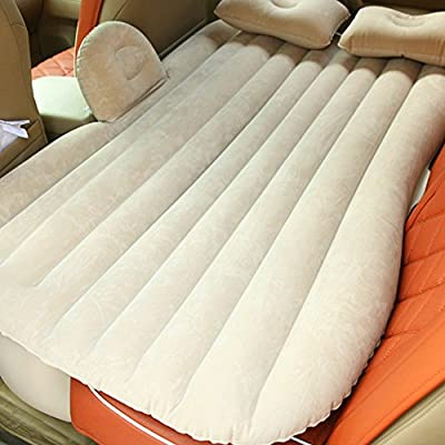 Car Travel Inflatable Mattress Flocking Outdoor Camping Universal