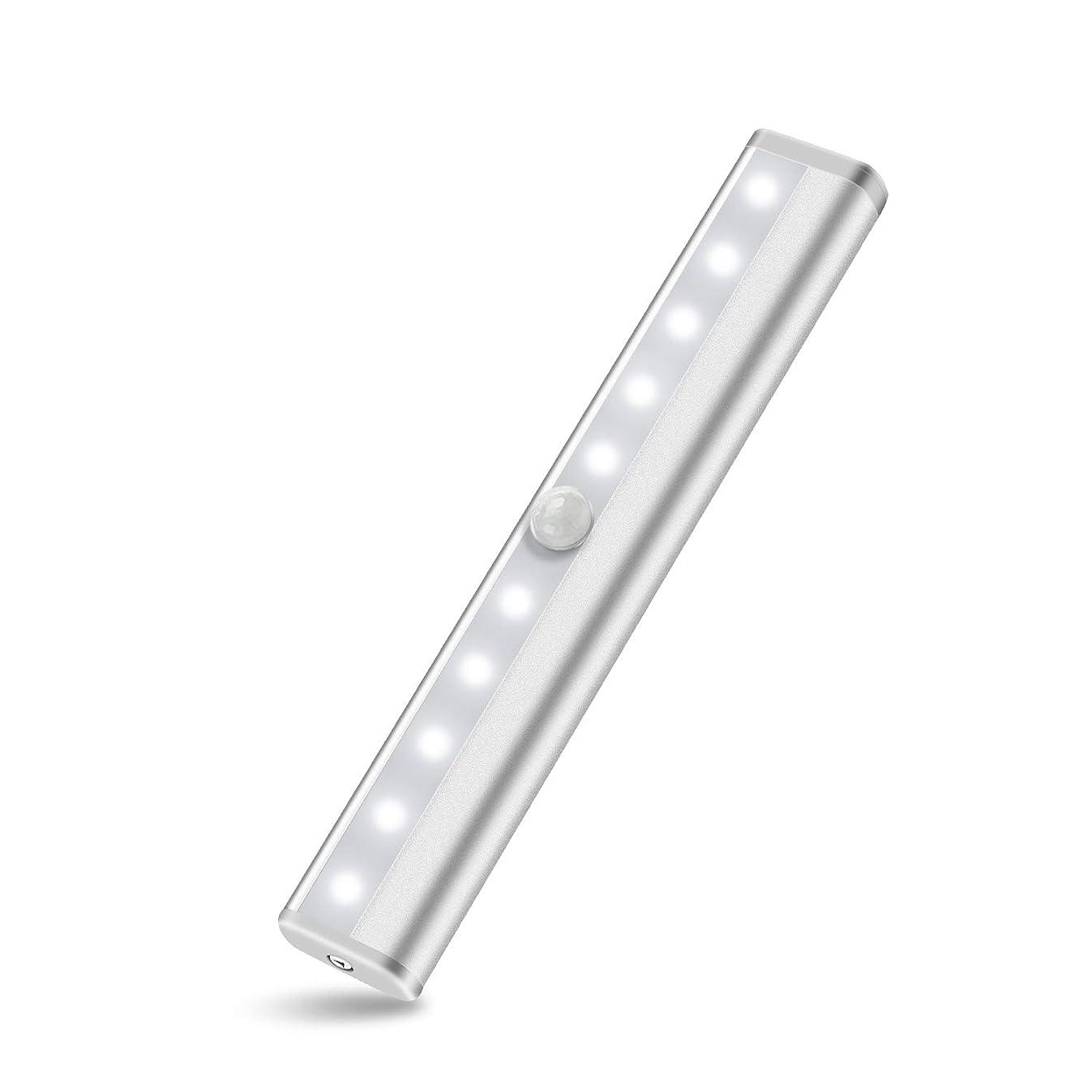Anbock LED Closet Light Motion Sensor Wireless Light Under Cabinet Lighting Battery Powered Night Light Sensing Activated Stairway Pantry Wardrobe Kitchen Hallway Bathroom 6000K