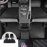 Gengcan Auto Tappetini in Gomma Moquette per Jeep Compass 2017-2020 5-Seat TPE Tappeto Premium Antiscivolo su Misura Tappeti in Gomma per Tutte Le Stagioni Stile B Nero