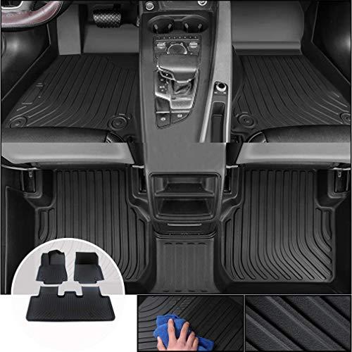 Alfombrilla de Goma para Coches Son aptas para Nissan Juke 2011-2017 5-Seat TPE Alfombra a Medida de Goma Antideslizantes Alfombrillas Moqueta Impermeables Estilo B Negro