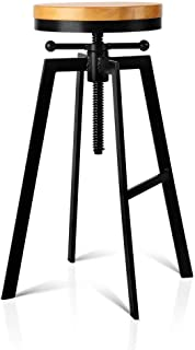 Artiss Adjutable Height Swivel Bar Stool - Black