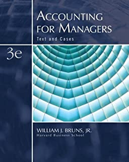 Accounting for Managers: Text and Cases