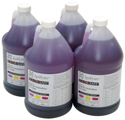 Spilfyter 410004 Specialty Spill Control Liquid Acid Neutralizer, 4 Liter Bottle, Case of 4