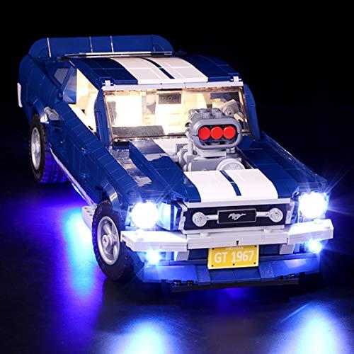 TETAKE Set di luci a LED per LEGO Ford Mustang – 10265 (non incluso il modello Lego)