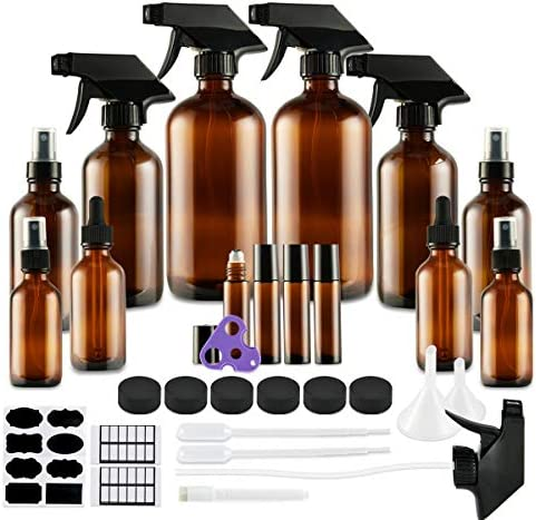 Glass Spray Bottle Eternal Moment Amber Glass Spray Bottles Set for Aromatherapy Cleaning Products product image