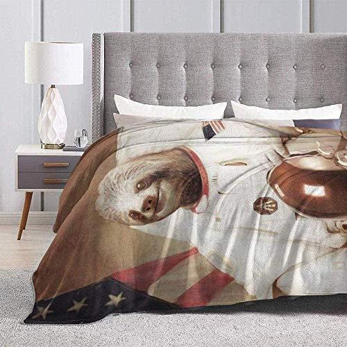 DWgatan Kuscheldecke Decke,Super Soft Fluffy Flannel Fleece Throws Astronaut Faultiere Gedruckt Bequeme Fleece Decke Passform Couch BedSofa Chair-60 X50 (150x130cm)