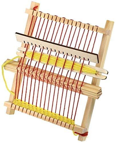 HEEPDD Strickmaschine, Mini Traditionelle Holzwebmaschine DIY Handgefertigten Tapisserie Strickrahmen Webstuhl Decke Schal Webstuhl Kinder Pädagogisches Spielzeug