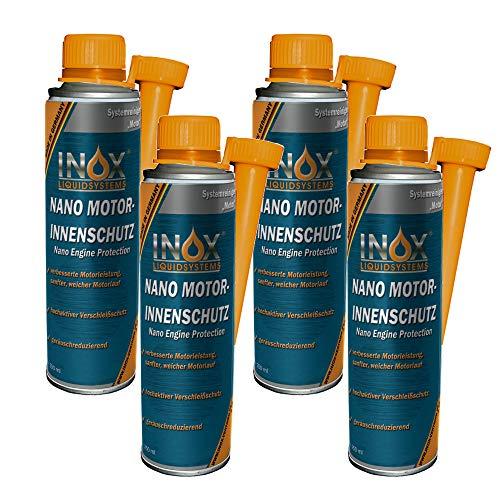 INOX® Nano aditivo de protección del Interior del Motor, 4 x 250ml - el sellador del Interior del Motor previene el Desgaste de Todos los Motores de Gasolina y Diesel