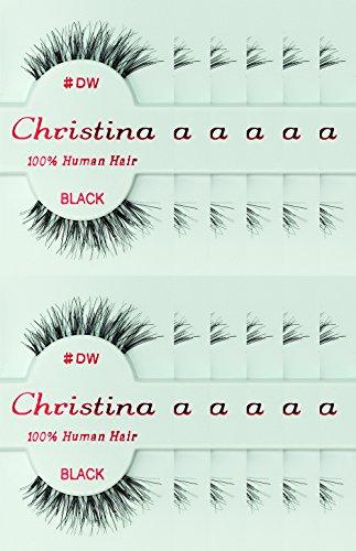 12packs Eyelashes - #DW (Christina)