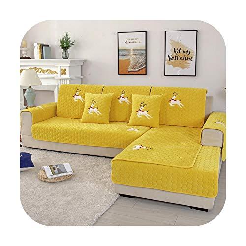 sofacover Lattice voor bank korte pluche meubels cover gebruikt voor combinatie bank antislip woonkamer dikke sofa cover handdoek