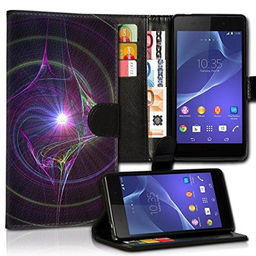 wicostar Book Style Alcatel One Touch Go Play 7048X Premium PU-Leder Tasche Flip Brieftasche Handy Hülle Kartenfächer mit Standfunktion für Alcatel One Touch Go Play 7048X - Design Flip MVC107