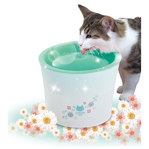 ジェックス ピュアクリスタル 複数飼育猫用 ガーリーグリーン 【フィルター式(循環式) 給水器】