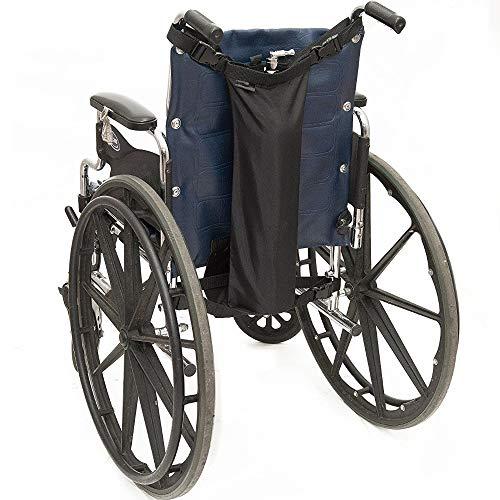 Soporte para tanque de oxígeno para silla de ruedas, mochila de oxígeno, bolsa para silla de ruedas para caminador, enrollador, se adapta a botellas cilíndricas D y E
