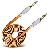 i-Tronixs Câble de Haut-Parleur stéréo 3,5 mm mâle vers mâle pour Samsung Galaxy J1 Ace Neo Orange