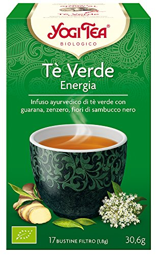 Yogi Tea Infusion de Hierbas Te Verde Energia - 17 bolsitas