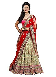 Dwarshi Fashion Womens Net Lehenga Choli (DF_MAGARITA,Red,Free Size)