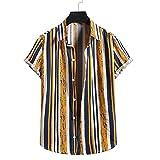 Sweat-Shirt Homme Col V Coupe Régulière Homme Hawaii Chemise Mode Impression Manches Courtes...