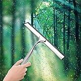 Thumby Limpieza de Ventanas escobilla de Goma Ventosa de Cristal Espejo Baño Ducha rascavidrios limpiacristales Limpiador de Acero Inoxidable del Espejo jianyu