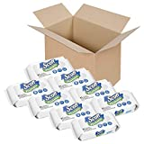 Scott Flushable Wet Wipes, 8 Resealable Packs, 51 Wipes per Pack (408 Total...