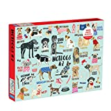 "Mudpuppy Hot Dogs A-Z Puzzle, 1,000 Piece Dog Jigsaw Puzzle, 27""x20"", Perfect for Ages 8-99+, Family Puzzle to Celebrate Dogs, Illustrations of 26 Dog Breeds, Great Gift for Dog Lovers"