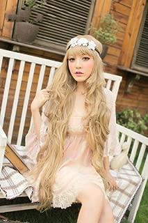New Godiva Super Long Lolita Full Natural Wavy Kanekalon Heat Resistant Hair Wig Blonde Wigs K056 by Karazan