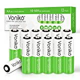 Best Aa Rechargeable Batteries - VONIKO AA Rechargeable Batteries 12 Pack– HR6 Ni-MH Review