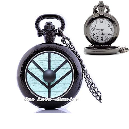 Ni36uo0qitian0ozaap Reloj de bolsillo Collar de la joyería s reloj de bolsillo collar escudo colgante joyería doncella regalo Lagertha Inspired,TAP368