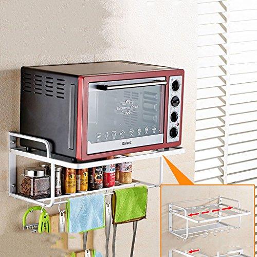 Küchenregal, Praktische Wandmontierte Mikrowelle Rack Gewürzkocher Regal Multifunktions Aluminiumlegierung Küche Kommoden & Sideboards Upgrade Größe 55 cm * 38 cm * 24 cm, 4 Styles ( Color : C )